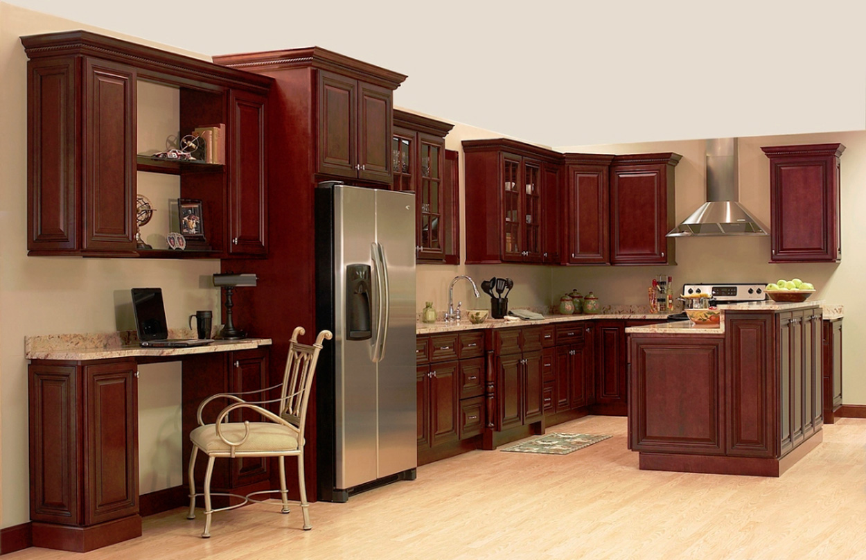 Cherry Rope Kitchen Cabinets Home Design Traditional Medium Wood Color Cherry Kitchen Cabinets