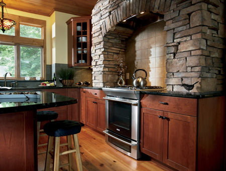Kitchen in Custom Woodland Cabinets