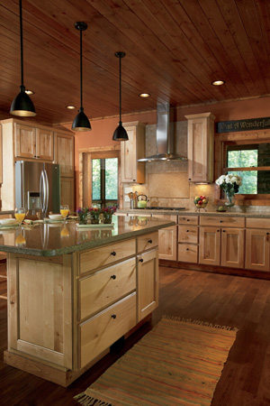 Rustic Kitchen in Custom Woodland Cabinets
