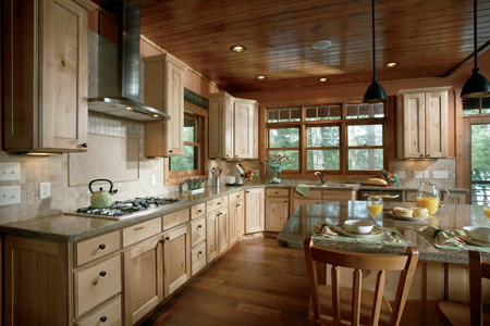 Rustic Cabinets in Custom Woodland