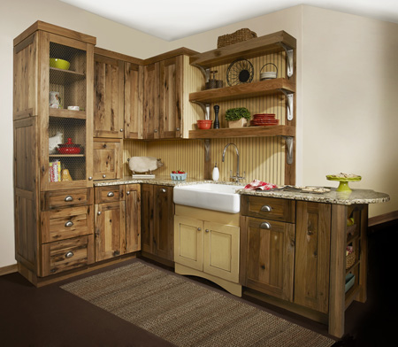 Country Kitchen in Custom Woodland