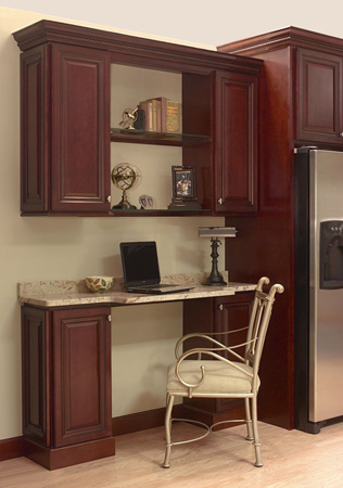Kitchen desk area in Designer Georgetown