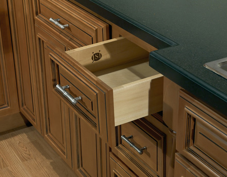 Kitchen detail in Designer Kingston Cabinets
