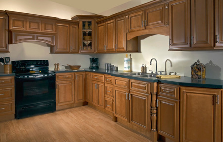 Kitchen in Designer Kingston Cabinets